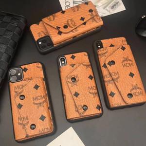 Designer Phone Case pour iPhone 11 Pro XS Max XR X 6 7 8 Plus Porte-monnaie en cuir Couverture