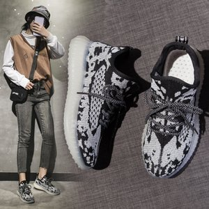 Women Casual Shoes Fashion Breathable Walking Mesh Lace Up Flat Shoes Sneakers Women 2019