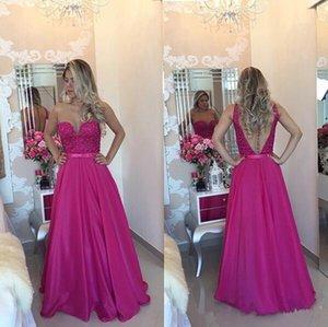 2019 새로운 섹시한 얇은 목 뒤 이브닝 드레스 긴 공식 예복 드레스 라인 파티 이브닝 가운 가운 드 Soiree Vestido 드 페스타
