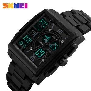 Skmei 1274 Reloj Militar de Lujo para Hombre Reloj Relogio de Acero Inoxidable Casual Relojes Digitales Cuadrados Sport Reloj Masculino Y19051703