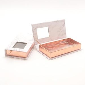 wholesale eyelashes packaging box lash boxes packaging custom faux cils 25mm mink lashes strip grey marble case bulk vendor