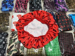 6pcs Durag diadema Mujeres estiramiento del sueño del capo del sombrero de la bufanda sedosa capo Chemo Gorros Caps cáncer Headwear abrigo de la cabeza accesorios para el pelo