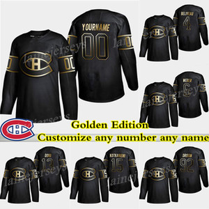 Montréal Canadiens Golden Edition 6 Shea Weber 31 Carey Price 11 Gallagher 13 Max Domi 어떤 이름 으로든 하키 유니폼 사용자 정의