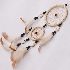 sweet style handmade dream catcher net nature feathers car window wall hanging decoration decor craft ornament xmas gift