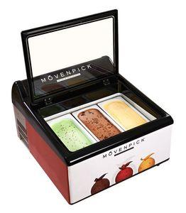Коммерческая витрина для мороженого 3 кастрюли с электрическим морозильником Морозильная машина