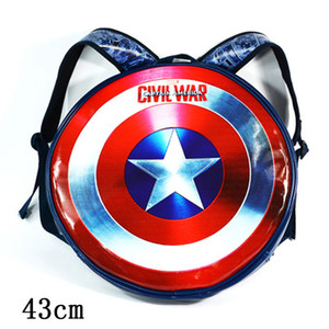 Captain America Large Shield Style Schultertasche Avengers Personality Waterproof Backpack