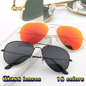 Kutuları Sürüş ile Vintage Pilot Erkekler Kadınlar 58mm 62mm UV400 Havacılık ayna Ayna Cam Lens gözlükleri