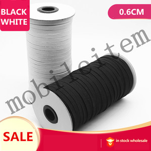 braided elastic 91M roll Wholesale supply of fine elastic band 0.6cm width elastic band 2020 Used to make masks 0401