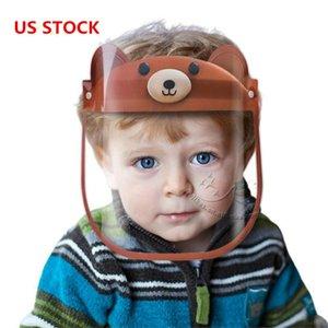 US STOCK, Kinder Face Shield Maske Kind Anti Spucken Isolation Vollschutzmasken Kinder Gesichtsschutzvisier Kunststoff transparent