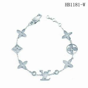 With box Luxurious Exquisite Chain bracelet jewelry women Diamond bracelets stainless steel L̴V bangle designer Valentines gift 439