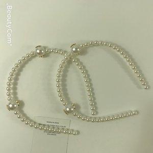 La moda de la perla del clip del aro del pelo del pelo adornos de joyería tocado de la horquilla para la recolección de Ladys de artículos de moda ornamentos del pelo 2pcs / lot