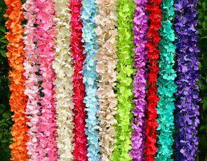 festa de aniversário do casamento de DIY 200 centímetros longo Artificial Wisteria Flower Vine Silk Hydrangea rattan parede Decoração flores pano de fundo