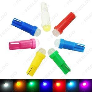 vente en gros voiture T5 COB LED en céramique tableau de bord instrument de jauge Wedge Base Auto Coin Wedge LED lampe ampoule 7-couleur # 5018