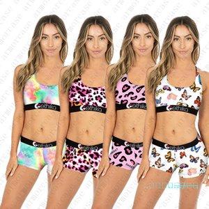 2020 donne costume da bagno Designer carro armato Bra + Shorts Beach Nuoto Costumi marchio 2Pcs Bikini Tie-Dye farfalla Swimwear D42805