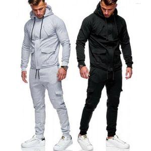 1 Adet Pantolon veya Coat bir takım M-XXL Erkek Eşofman Koşu Hoodie Kapşonlu Kaban Ceket ya Pantolon Sweatpants Koşucular Spor Ter