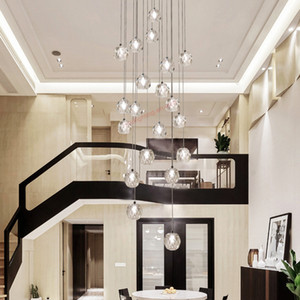 cristallo lunga hall di lusso lineare ingresso led moderna sala da pranzo in cristallo personalizzati luci scale lampadario per soffitti alti