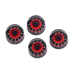elektro gitar bas için 4 GD17A akrilik etkisi pedalı kumanda düğmesi amplifikatörler (siyah ve kırmızı)
