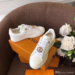 19FW KADIN Branda Sneakers Aşıklar Rahat AYAKKABI vulcanize Flats Casual Man Chaussure Bayanlar Eğitmenler Ayakkabı YECQ5 Dantel-up