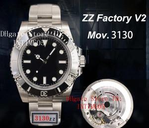 ZZ Top fabbrica V3 904L acciaio della vigilanza 40 millimetri nero lunetta in ceramica 114060 No Data Cal.3130 Eta 2836 Movimento automatico Orologi Mens