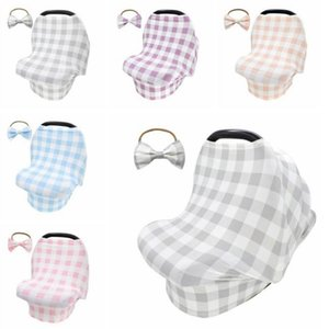 5 Colors Baby Breastfeeding Cover with Hairband Canopy Baby Car Seat Shopping Cart Cover Scarf Breathable Nursing Cover YYA102