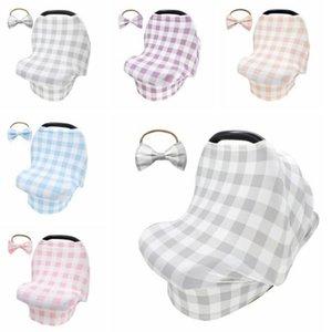 5 couleurs pour bébé allaitement Recouvrir Hairband Canopy bébé Car Seat Cover Panier Foulard Respirant Nursing Cover YYA102