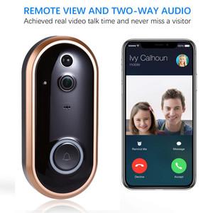 1080 P Смарт WI-FI Дверной Звонок Домофон Видео Кольцо Дверной Звонок С Камерой ИК Вход Дверной Сигнал Беспроводной Безопасности Дверной Звонок Камеры Сигнализации