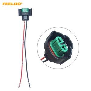 도매 자동차 H11 H8 헤드 라이트 램프 홀더 소켓 LED HID 할로겐 빛 커넥터 배선 하니스 플러그 어댑터 # 5962