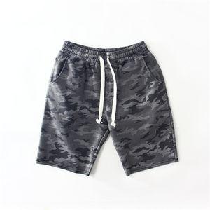 Badeshorts Männer Elastische Taille Terry Baumwolle Fitness Persönlichkeit Camousflage Neue Sommermode Stil Beiläufige Atmungsaktive Shorts
