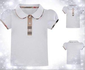 2020 Yeni Bebek Kız Kısa Kollu Tişört Çocuk Tasarımcı Giyim Tee Gömlek Çocuk Moda Kız Giyim Giyim Tops