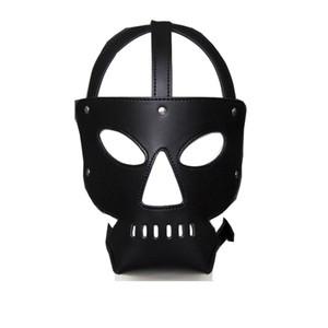 Nuevo juego de rol en un club nocturno Monster Mask Headgear Bondage Hood Juegos sexuales para hombres SM Fetish Sex Toys