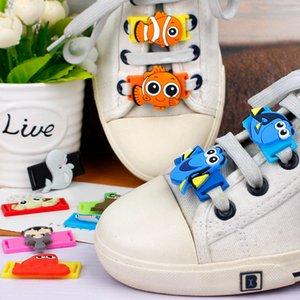 8/16 Pcs une chaussure Set Cartoon PVC Décorations Finding Nemo Chaussures Casual Accessoires Chaussures de sport Nouveauté Lacet Charms M436