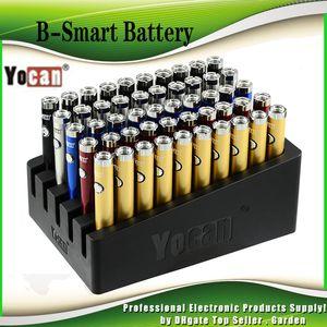 Original Yocan B-Smart Battery 320mAh Magro torção Pré-aqueça o VV inferior Tensão ajustável E Cig 510 Vape Pen Com Display Stand 100% Authentic
