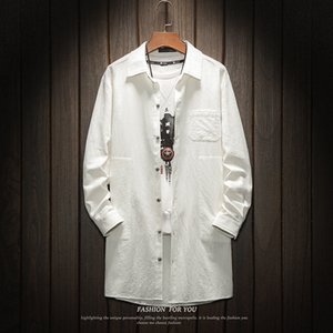 Camisa de manga larga de algodón Cool2019 Wear Solid Color Enlarge Code Fund para hombre
