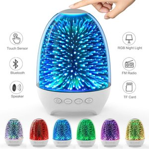 Brelong Colorful Illuminato Bluetooth Speaker Luce Notte Usb Comodino emotivo Atmosfera Light 1 Pc
