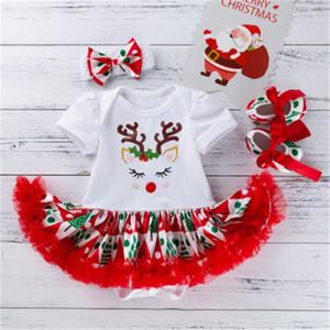Vestito di Natale del vestito Abito Cute Fashion neonato fumetto di Natale Moose natica pannello esterno del bambino di Natale all'ingrosso
