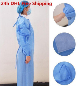US STOCK, 24H DHL Stock Waterproof Isolation Clothes Frenulum Protective Clothing Disposable Gowns Non woven Fabric Protection Suit