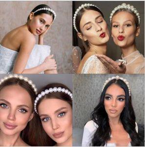 ins temperamento moda cabeça vermelha líquida com o mesmo ponto selvagem modelos noiva pérola tiara do casamento do vintage mulheres noivas headpiece