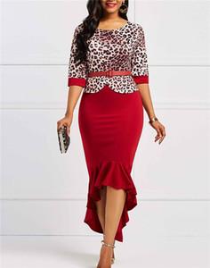 Summer Ladies imprimé léopard robe designer de mode col rond femmes robes Casual vêtements féminins habillé avec ceintures