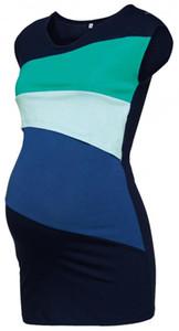 Shirt mode Casual lambrissé couleur manches Confinement Vêtements pour femmes enceintes mères qui allaitent Vêtements d'été Femmes de maternité