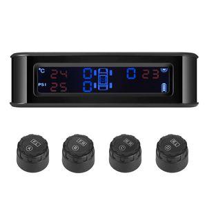 ZEEPIN C220 نظام مراقبة ضغط الهواء في الإطارات بالطاقة الشمسية للسيارة TPMS البث الصوتي 4 أجهزة استشعار خارجية