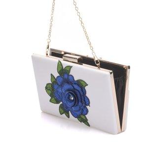 Fiore di cristallo regina blu pizzo sposa cuneo scarpe tacco alto abito da sposa scarpe con borsa abbinata incunea pompe con borsa