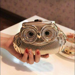 2019 Owl nuptiaux Sacs à main pour la fête de bal Perles cristal embrayages sac de soirée pas cher chaîne En stock Bridal Party Sacs à main cadeau de mariage