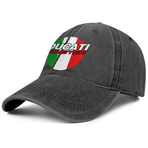 Élégant Ducati Corse Di Ca Ti unisexe Denim Casquette de baseball de golf personnalisé chapeaux veste de drapeau effet 3D moto camouflage noir gris