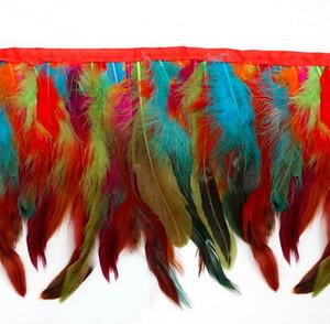 12 colores para 25pcs Selecciones Gallo cola de boda Las plumas vestidos de la novia falda de la decoración del partido decorativo Boas Strip