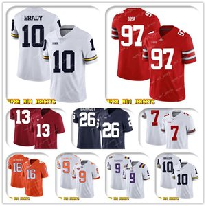 NCAA 10 Tom Brady Trevor Lawrence Clemson Tigers College Football Jersey Gardner Minshew CJ Henderso K'Lavon Chaisson Blake Bortles