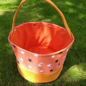 New Halloween Candy Basket Bag Polka Dot Hand Bag Storage Bags Put Eggs Storage Sacks Print Bucket Bags Desk Baskets Shopping bag A234