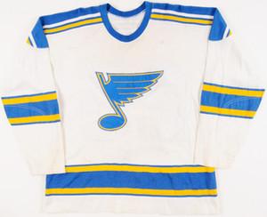 Vintage 1970-71 Norm Dennis St. Louis Blues Hockey Jersey Bordado Cosido Personalizar cualquier número y nombre