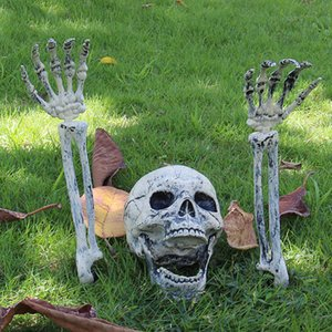 Festa de Halloween decoração do cemitério Prop Ornamento Ossos de esqueleto participação de terreno assustador DIY reutilizável Skulls Lifelike Bar Início Lawn SH190925