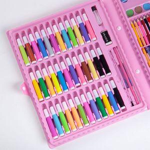 Freeshipping Multicolor 150PCS Подарочная коробка карандаш Акварель пера настроенной Детская картина Поставки офис Crayon Масляная пастель в наличии PEN0202