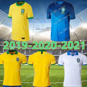20 21 Coppa America Brasile calcio jersey G. Gesù 2020 2021 COUTINHO FIRMINO MARCELO uomini Kit Brasil calcio maglie Camicia